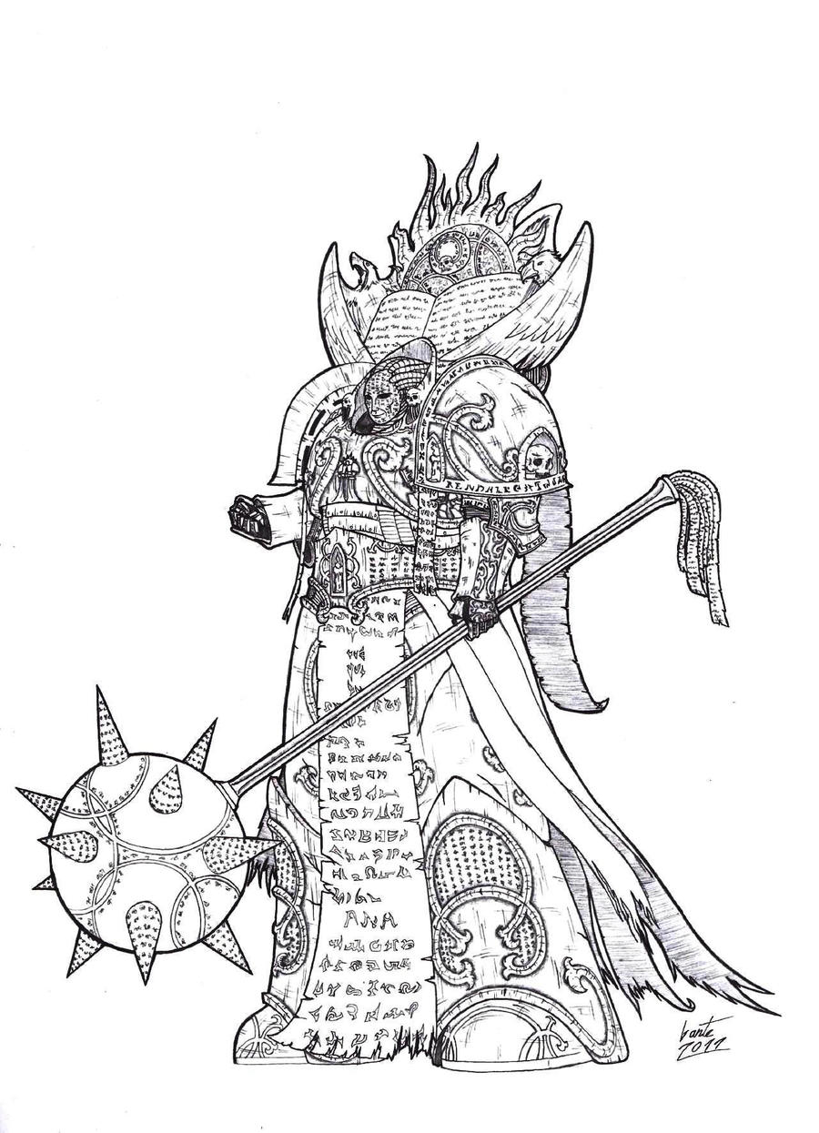 Lorgar - Primarch of the Word Bearers by Greyall
