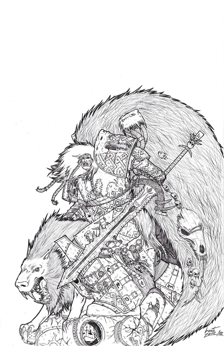 Leman Russ - Primarch of the Space Wolves by Greyall