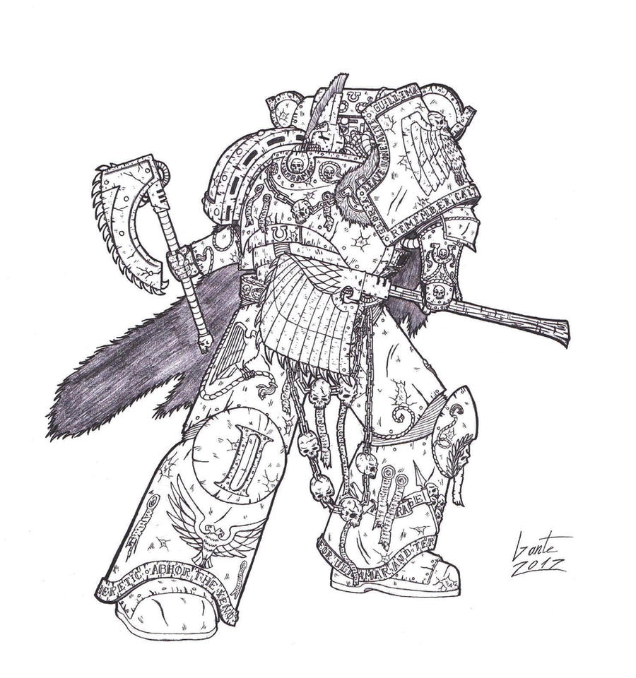 Octavius Grim - Captain of the Ultramarines by Greyall