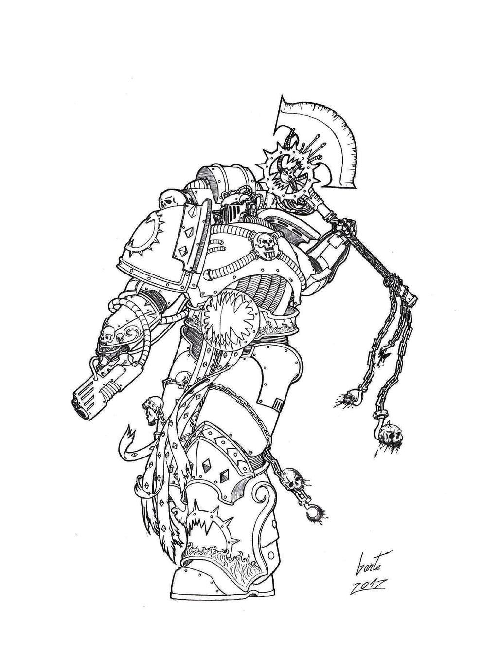 [W30K] Legiones Astartes XII : World Eaters World_eaters___kharn_by_greyall-d5ir2wq