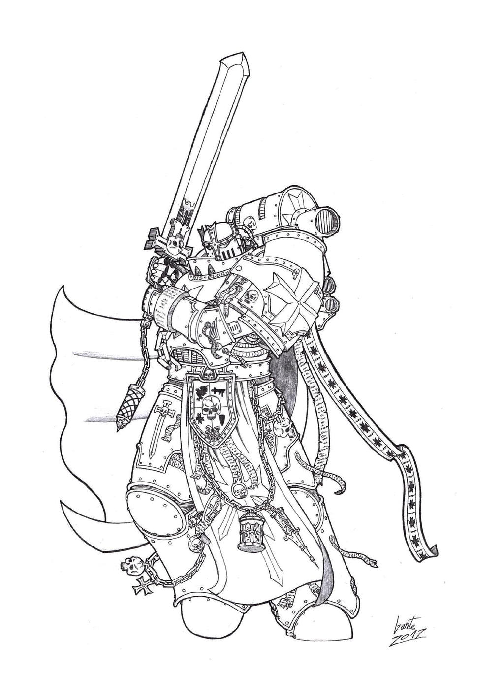 Black Templars - High Marshall Ludoldus by Greyall