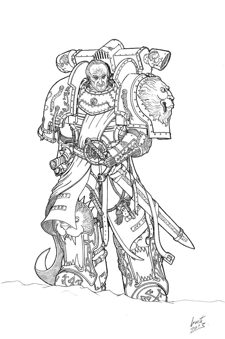 Chapter Master Lannwyn Of The Crimson Lions By Greyall