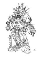 Khorne: Manuel Graspar - Imperial Fists by Greyall