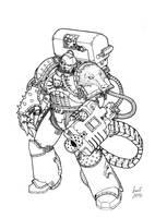 Messor Bitterhand - Alpha Hounds Devastator Sgt by Greyall