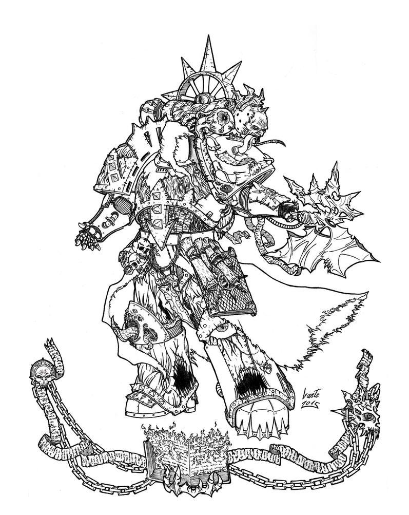 Nihil - Word Bearers Sorceror by Greyall