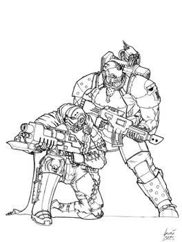 Pre-Heresy Recon Marines