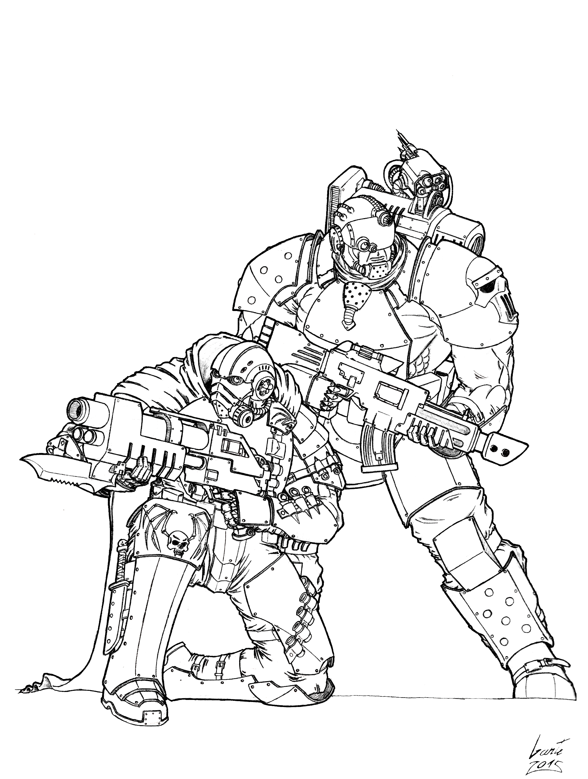 Pre-Heresy Recon Marines by Greyall