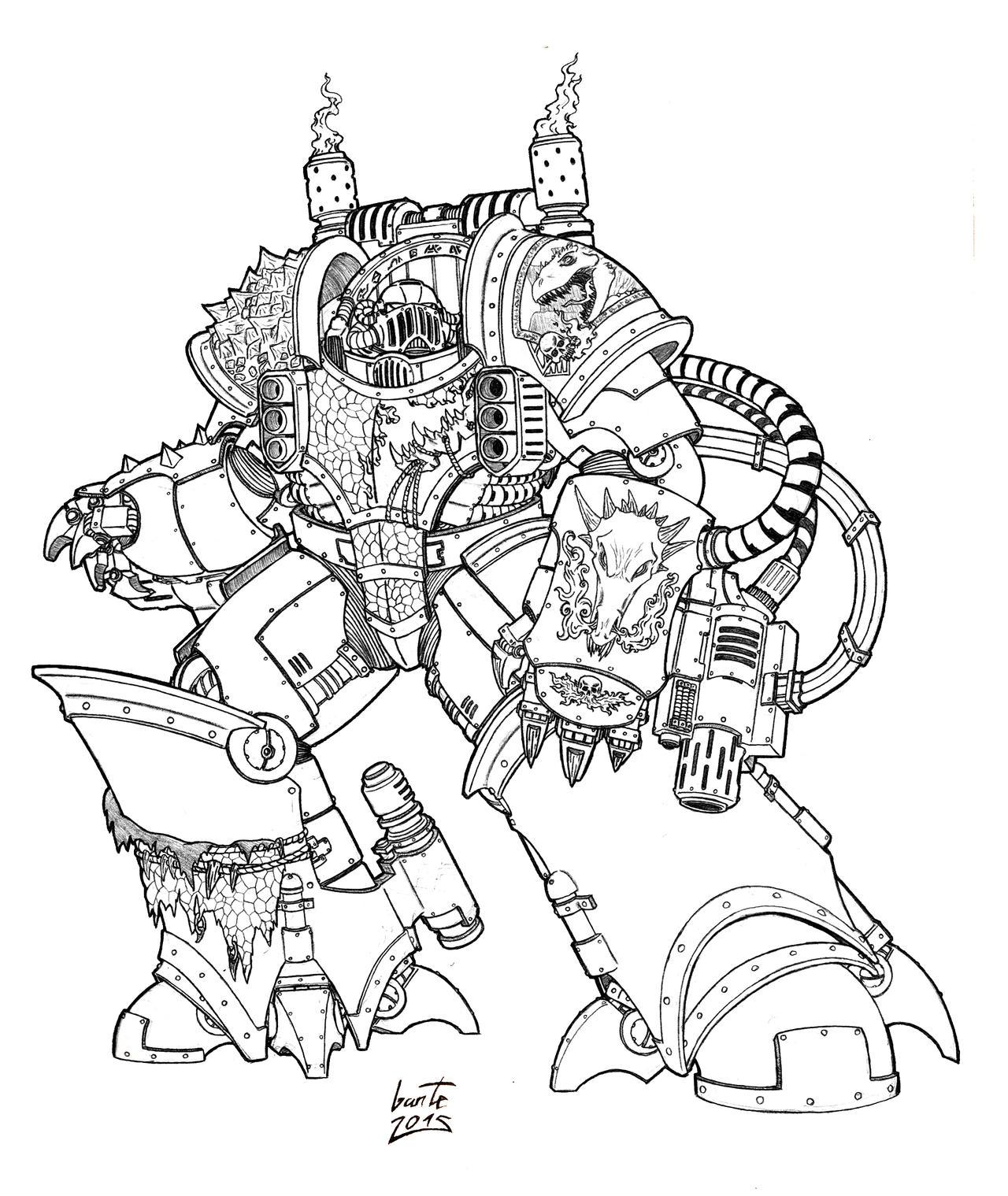 Clee Scar'mang - Salamanders Centurion by Greyall