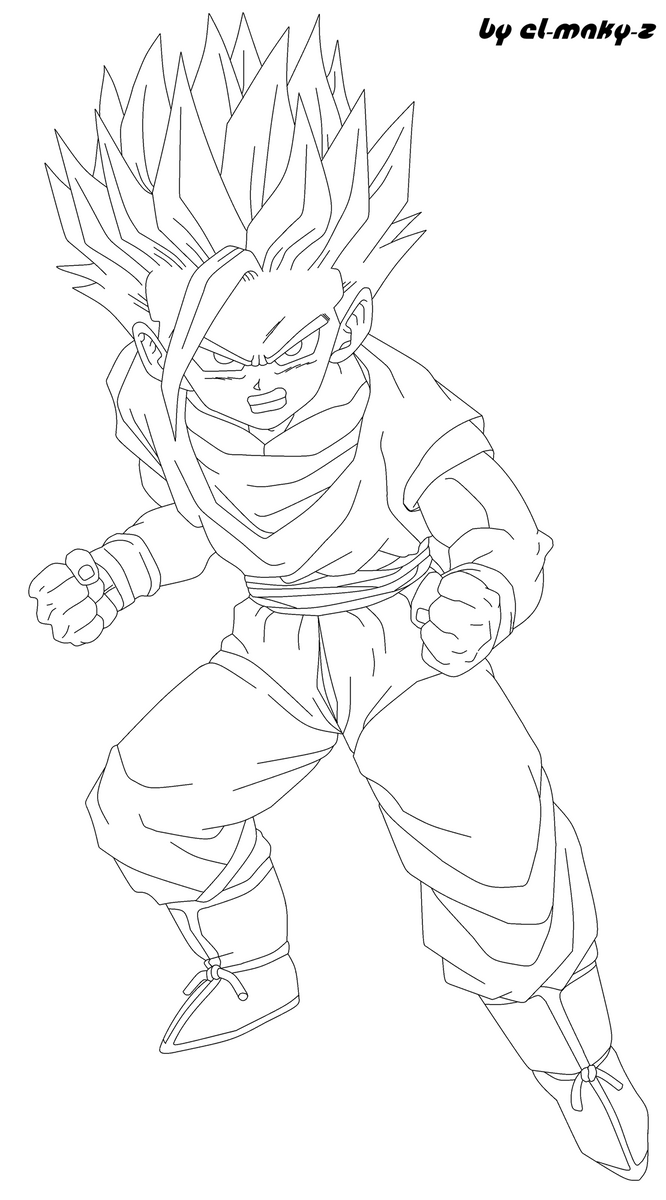 Teen Gohan Ss6 - Free Coloring Pages