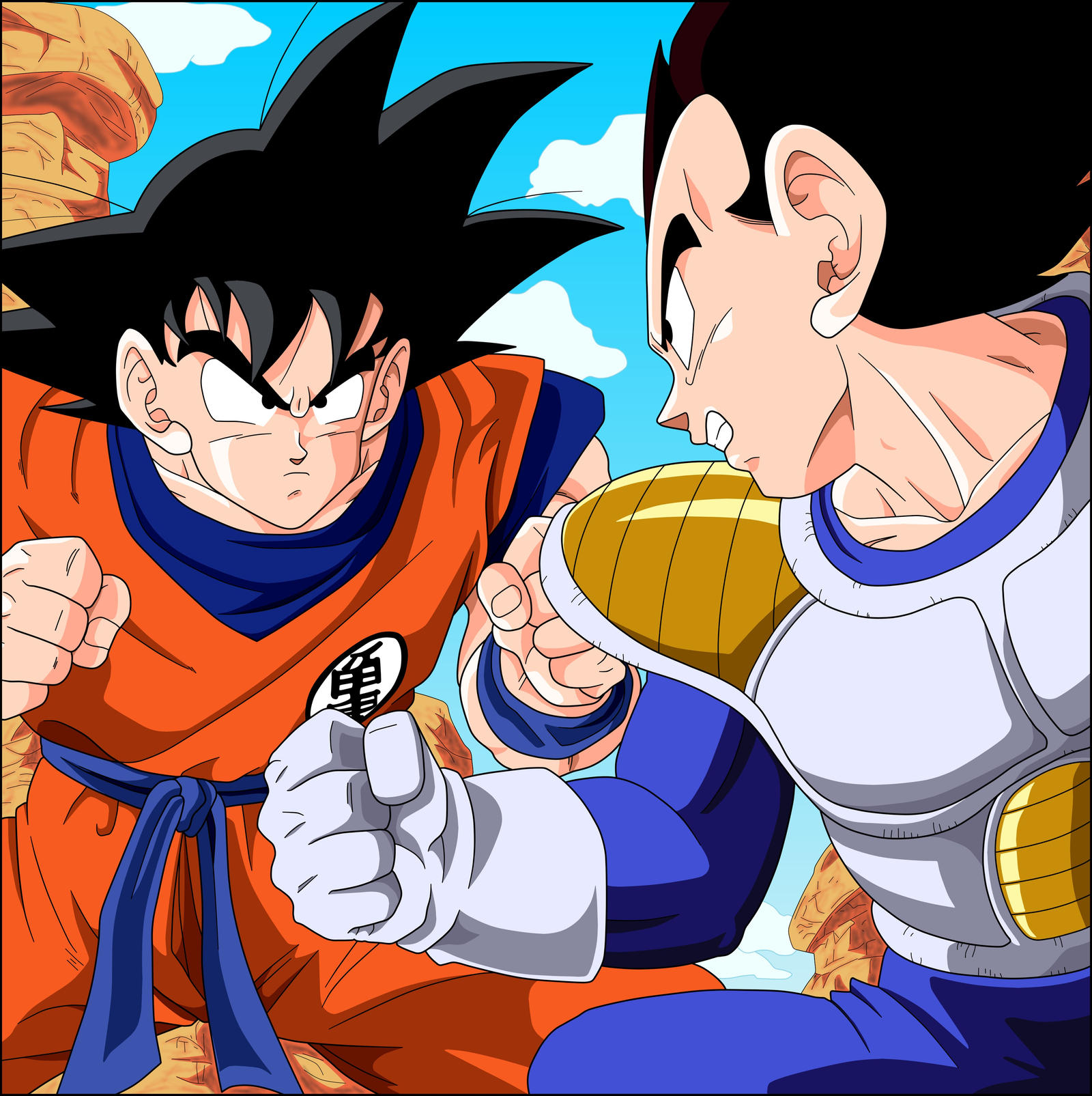 Goku vs vegeta saiyan saga by el maky z on deviantart - Goku vs vegeta super saiyan 5 ...
