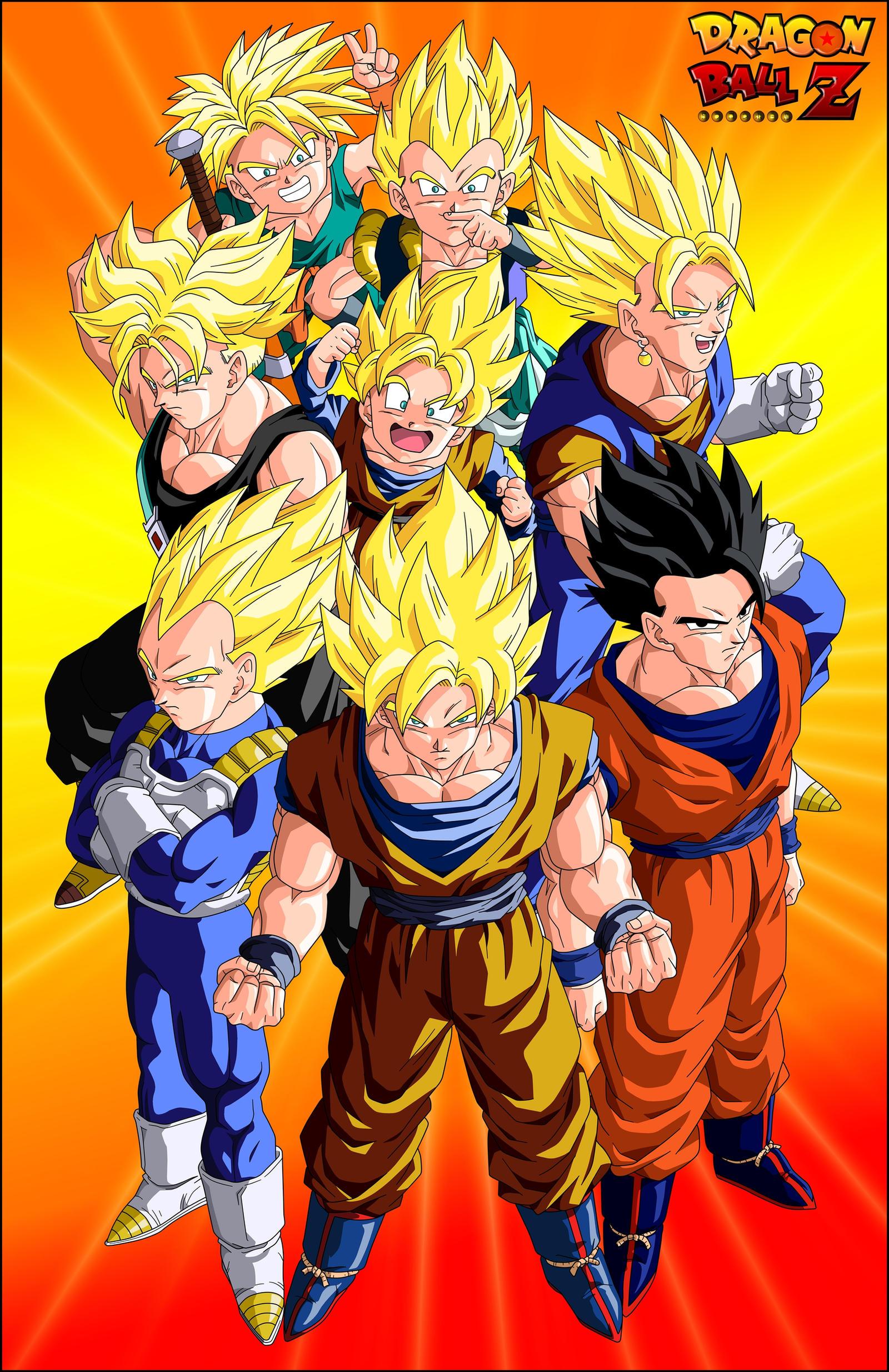 The Super Saiyans by el-maky-z
