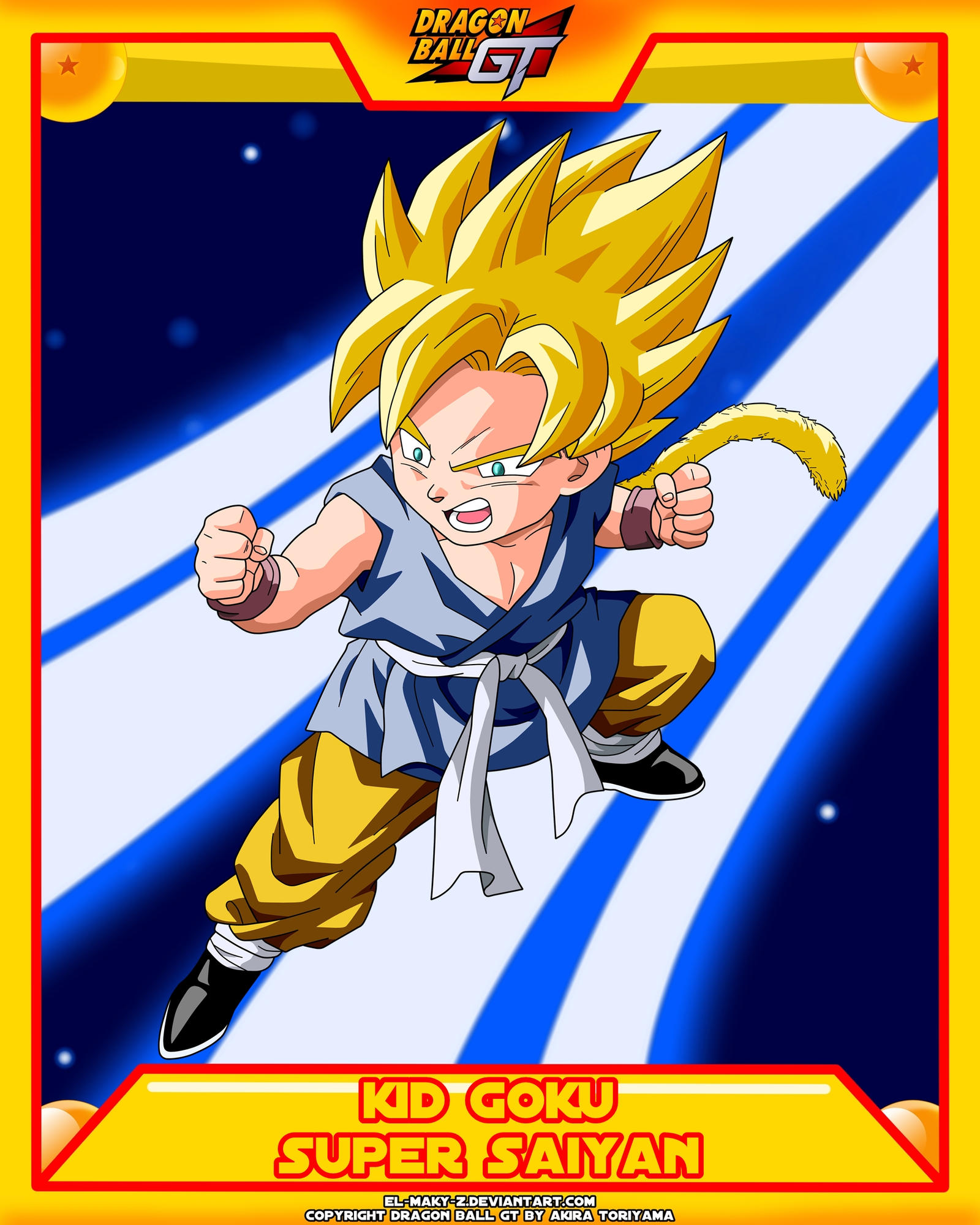 DBGT-Kid Goku SSJ by el-maky-z