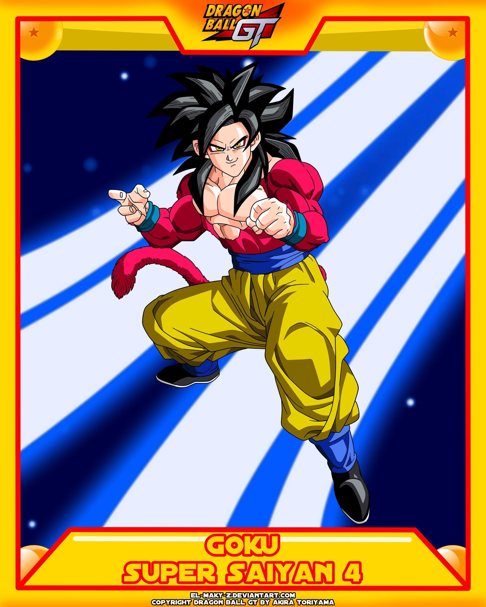 Dbgt Goku Ssj4 By El Maky Z On Deviantart