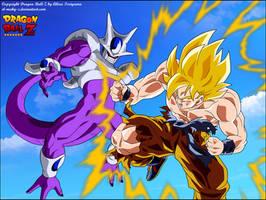 Goku Super Saiyan VS Cooler Final Form by el-maky-z