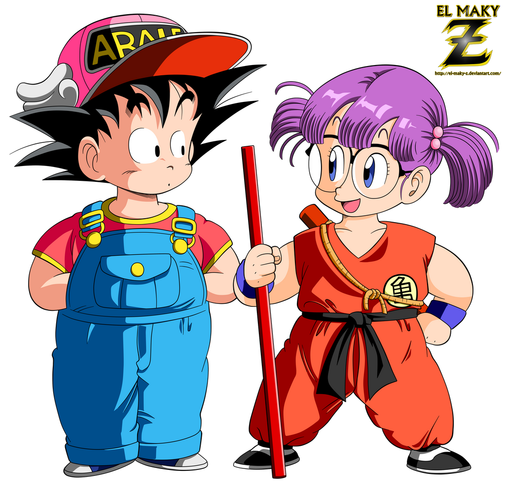Goku And Arale By El-maky-z On DeviantArt