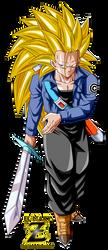 Future Trunks Super Saiyan 3 by el-maky-z