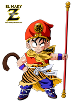 Kid Gohan (Sun Wukong Clothes) by el-maky-z