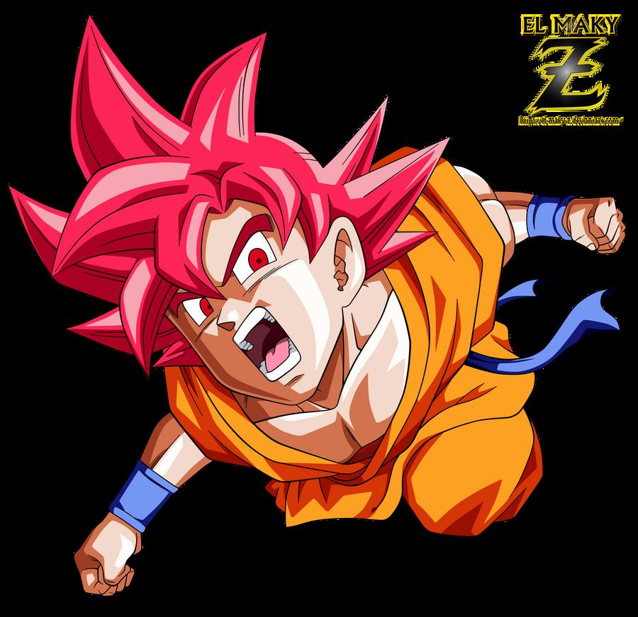 Goku FNF Super Saiyan God by el-maky-z