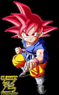 Kid Goku GT Super Saiyan God