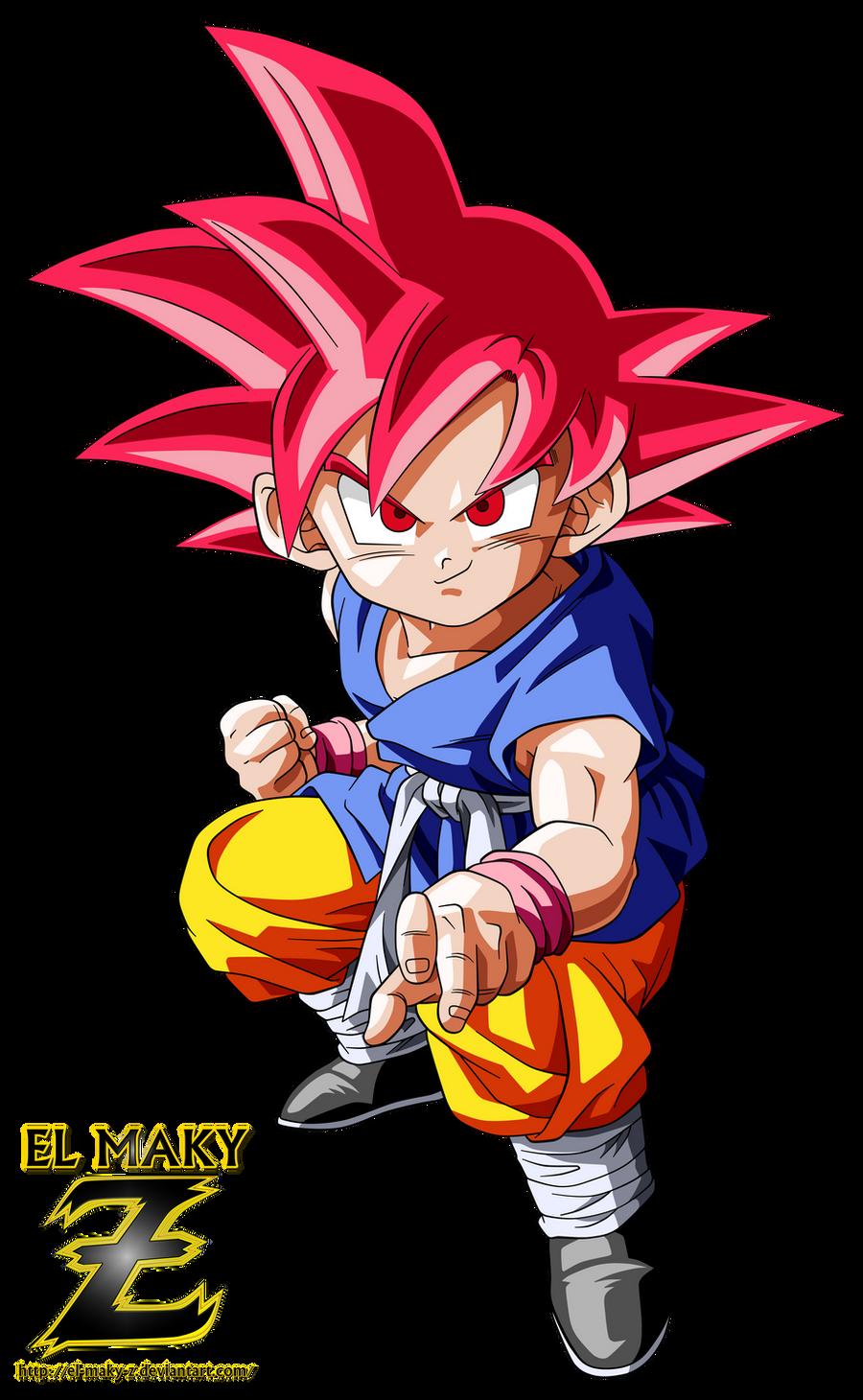 Kid Goku GT Super Saiyan God by el-maky-z on DeviantArt