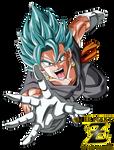 Vegetto FNF Super Saiyan Blue God