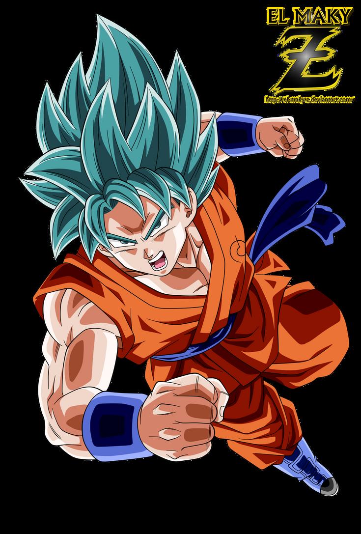 Son Goku Super Saiyan Blue God by el-maky-z