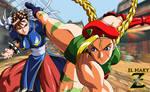 Street Fighter - Chun-Li Vs Cammy by el-maky-z