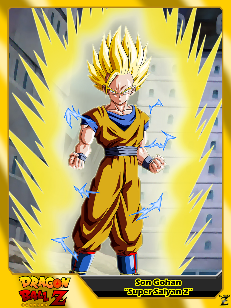 Dragon ball z son gohan 39 super saiyan 2 39 by el maky z on - Son gohan super saiyan 4 ...