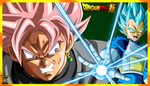 (Wallpaper) Vegeta SSJ Blue VS Black Goku SSJ Rose