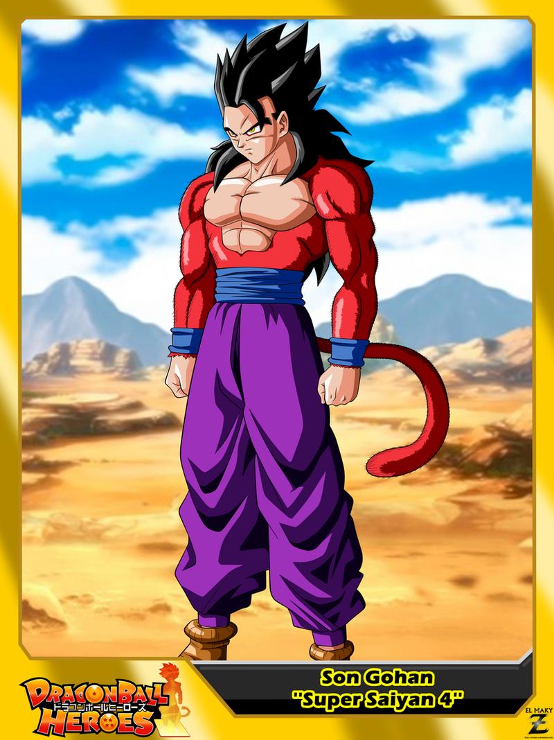 Dragon ball heroes son gohan 39 super saiyan 4 39 by el maky - Son gohan super saiyan 4 ...