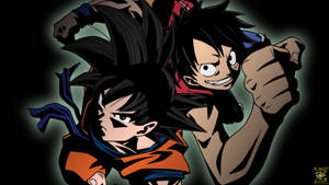 (Wallpaper) Goku And Luffy