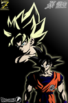 (Poster Dragon Ball) Son Goku SSJ