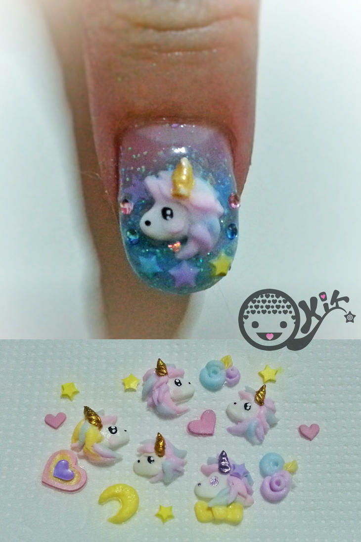 Unicorn acrylic 3d nail art by kkkiiikkk on deviantart unicorn acrylic 3d nail art by kkkiiikkk prinsesfo Images