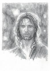 Aragorn in Lothlorien by LauraAthena