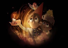 Over The Garden Wall by Kittykatpaws