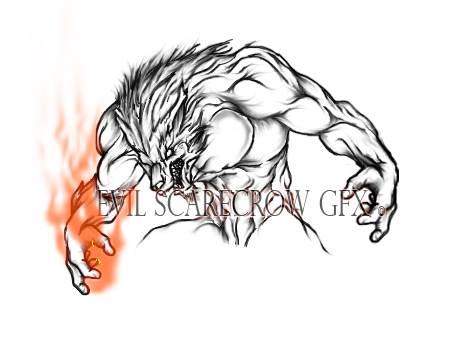 Evil Wolf Face Evil Wolf Drawing