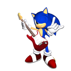 Rocking-Sonic: Render with C4D by SonicOnBox