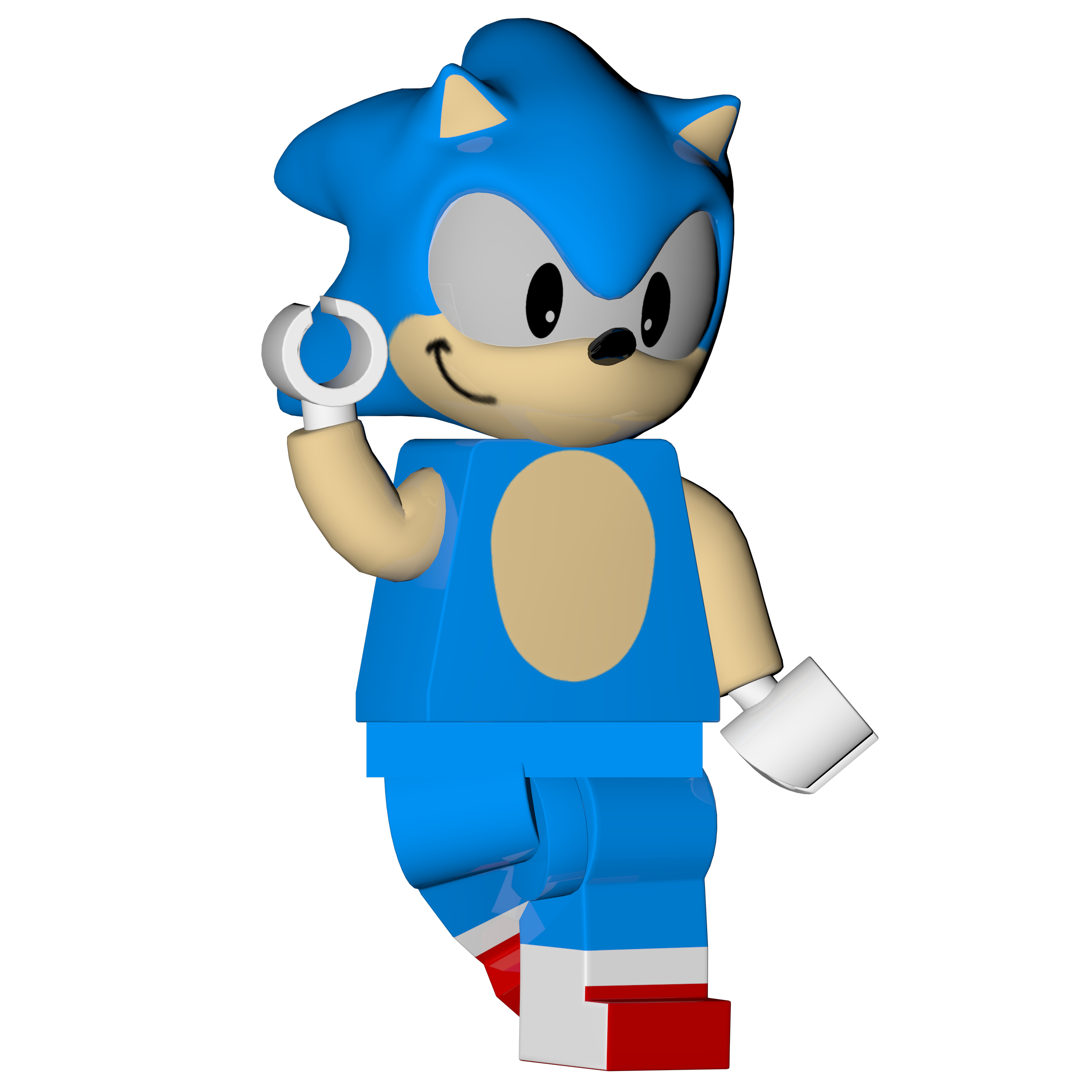 Lego Classic Sonic Render Lego Dimensions By Soniconbox On Deviantart