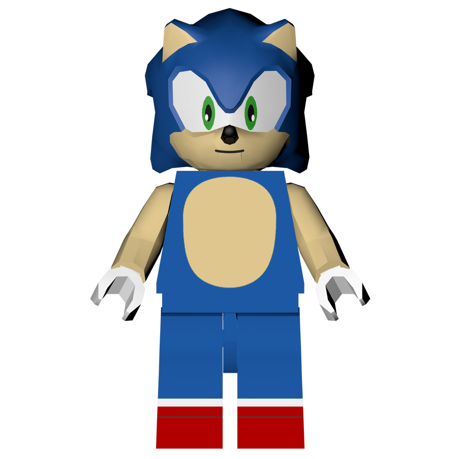 Sonic The Hedgehog Level Pack: Lego Sonic Render! By