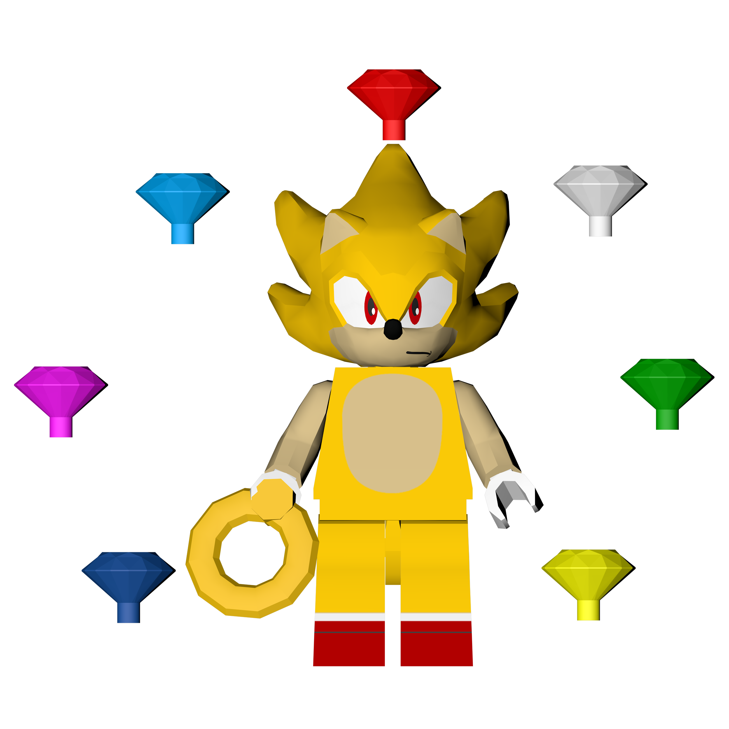 Sonic The Hedgehog Level Pack Lego Super Sonic By Soniconbox On Deviantart