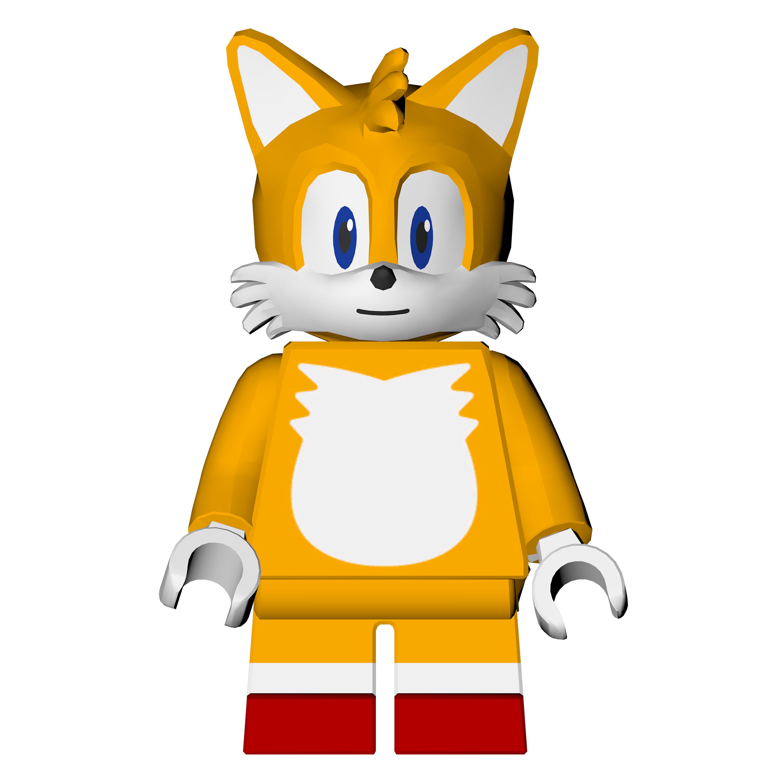 Sonic The Hedgehog Level Pack: Lego Tails Render By