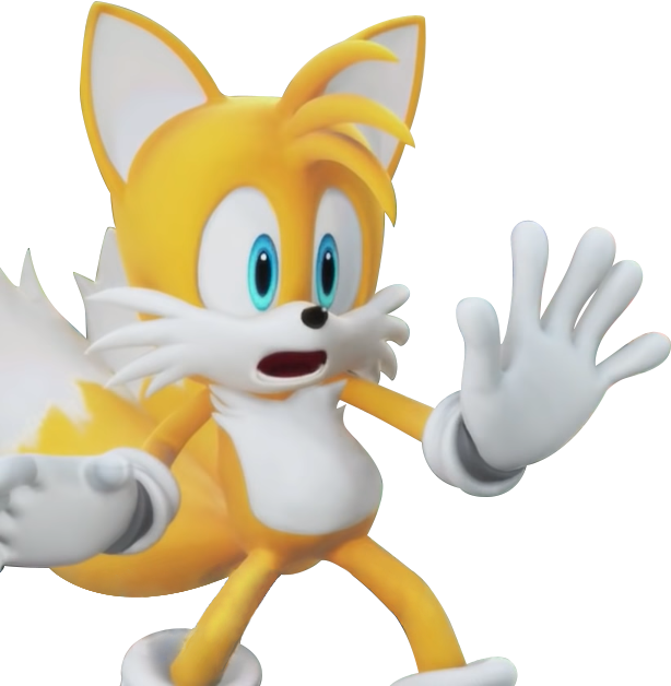 Team Sonic Racing - Tails's Shocked Pose by SonicOnBox on