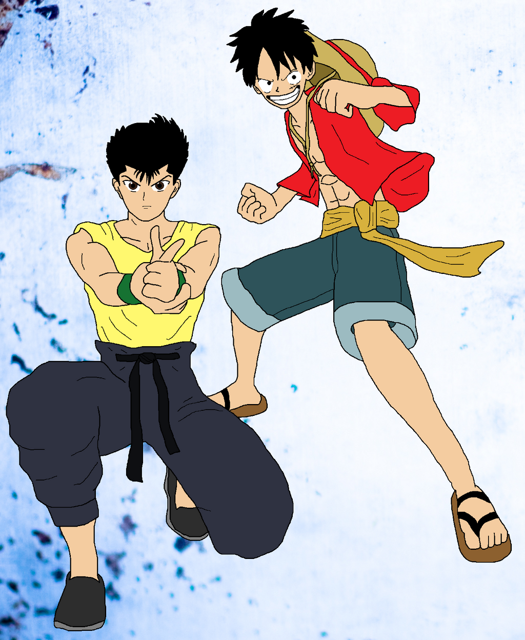 Monkey D. Luffy And Yusuke Urameshi By SpyDa89 On DeviantArt
