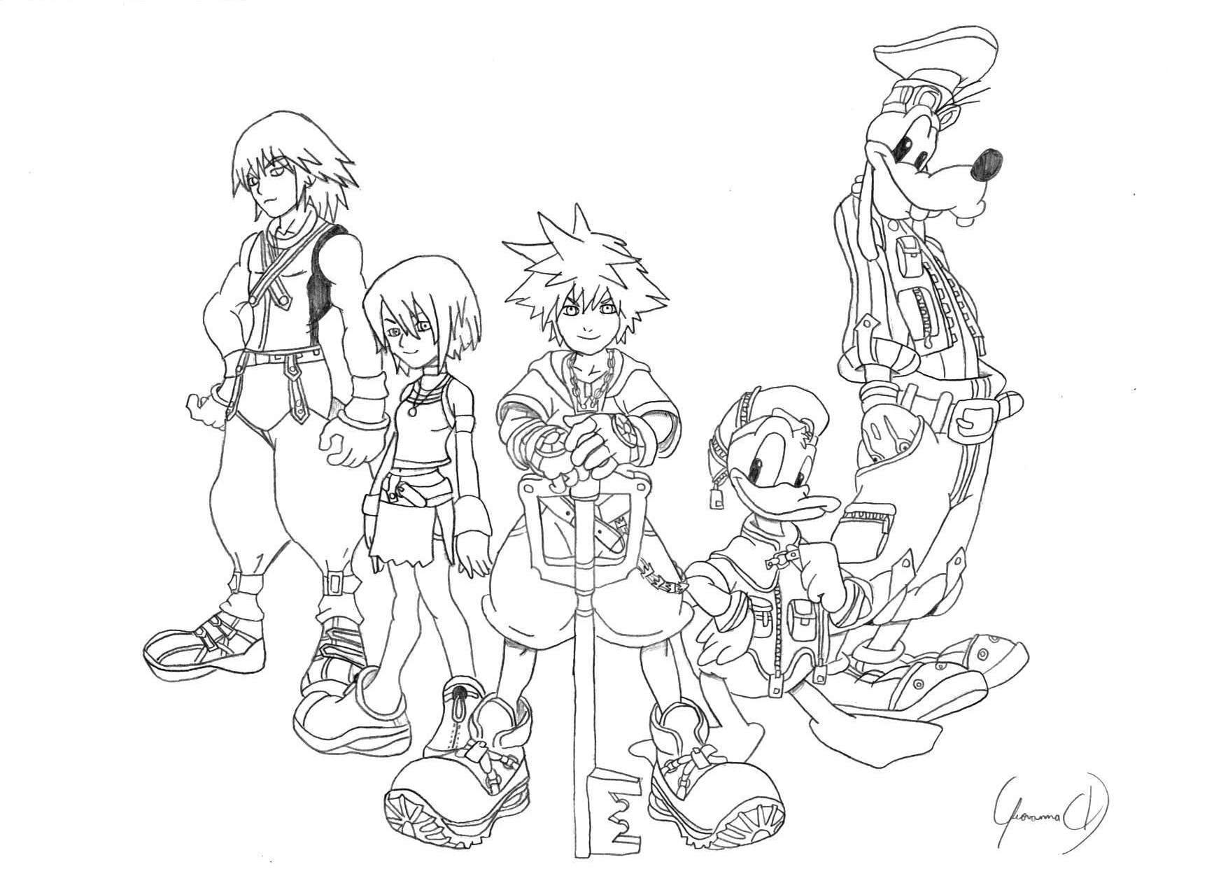 How To Draw Kingdom Hearts Characters Www Picsbud Com