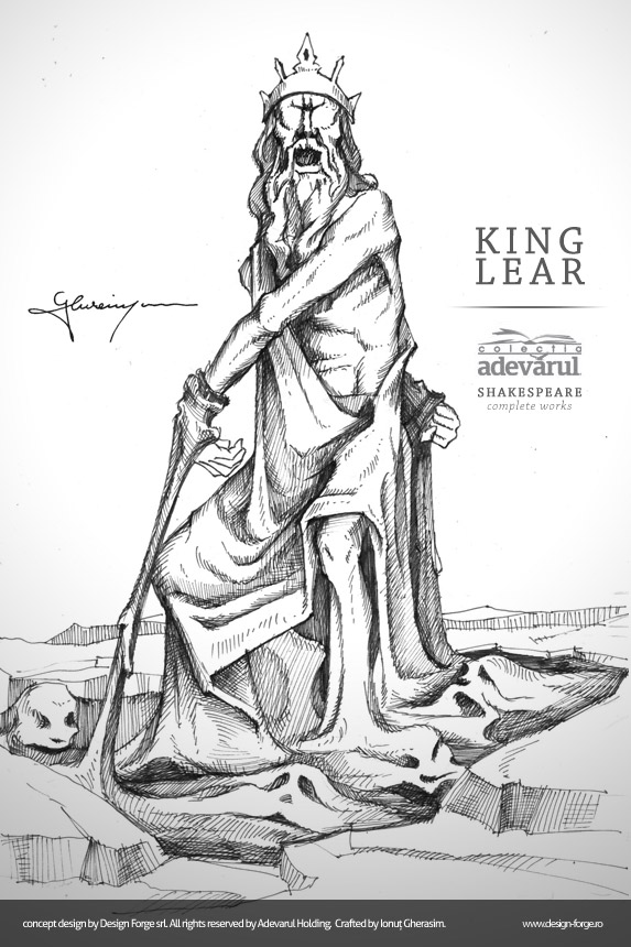 a story of treachery and deceit in king lear by william shakespeare King lear is one of the most complex plays written by william shakespeare, with its many characters, disguises, and surprising outcomes typical of most shakespearean tragedies, old king lear is brought to ruin, and eventually death, by a tragic flaw: his foolishness spurred on by his pride.