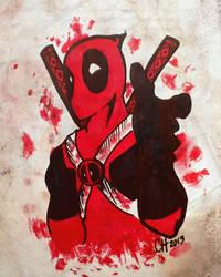 Deadpool Sharpie Doodle by CayleyAlaina