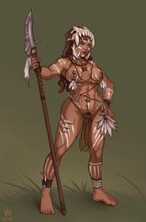 Tribal Amazon Huntress by DeltaSixE