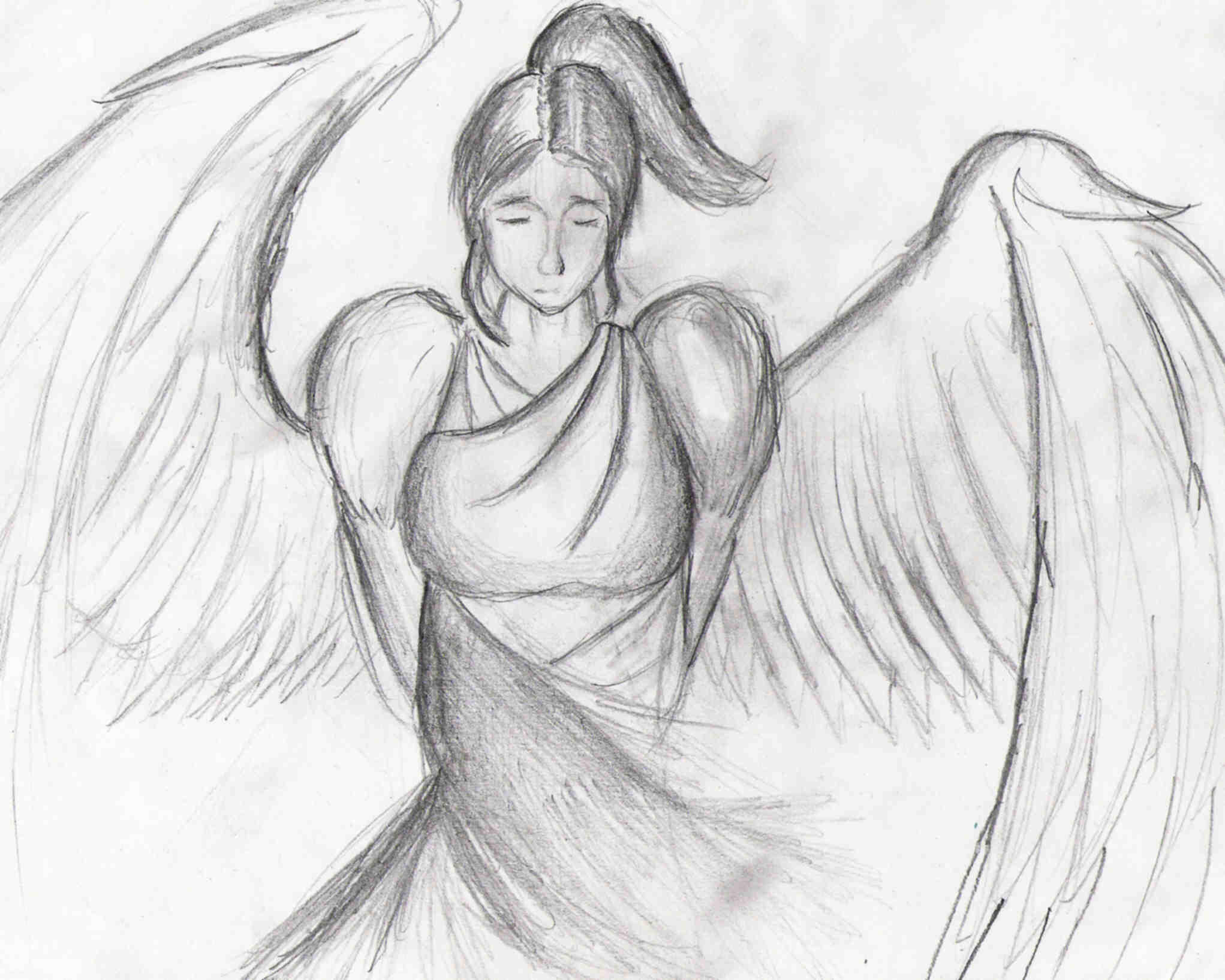 angel concept drawing by zeknif on deviantart