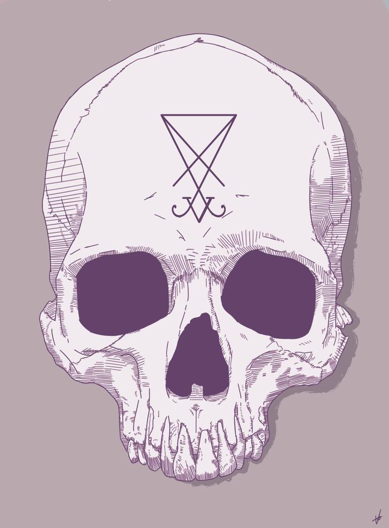 Violet Skull [1080×1464] By AntonioVegaArt