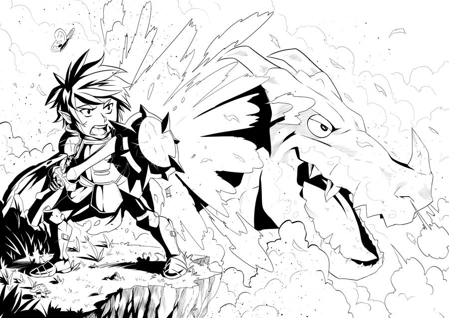 The hero, The napdragon and The butterfly by HAmatsu